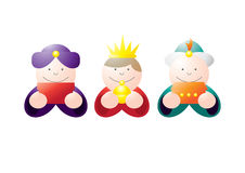 Littlekings. Stylized illustration of three little kings bearing gifts Royalty Free Stock Photos