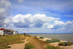 Littlestone beach English Channel scenic view Stock Images