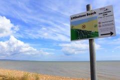 Littlestone plaży widok zdjęcie stock