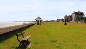 Littlestone sjösida Kent United Kingdom Arkivbilder