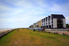 Littlestone sjösida Kent United Kingdom Arkivfoto