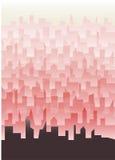 Littlt town wallpaper Stock Images