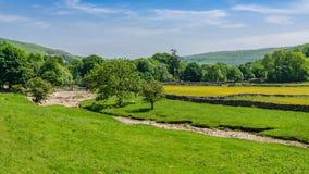 Litton, North Yorkshire, Engeland, het UK royalty-vrije stock foto's