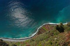 Littoral au point de vue Madère de Cabo Girao Photographie stock