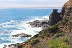 Littoral coloré de cap Schanck sur la péninsule de Mornington, Australie images libres de droits