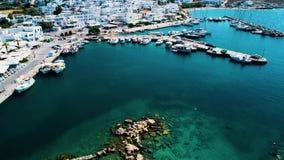 Littoral d'île de la Grèce clips vidéos