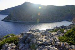 Littoral d'île de Levitha Photo libre de droits