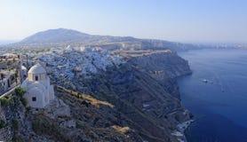 Littoral d'île de Santorini photo libre de droits