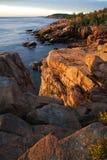 Littoral d'Acadia image stock