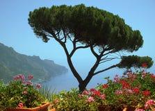 littoral d'Amalfi Images libres de droits
