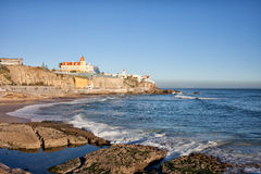 Littoral d'Estoril au Portugal Photo stock