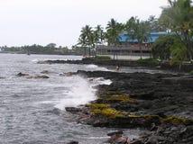 Littoral d'Hawaï près de Kona image libre de droits
