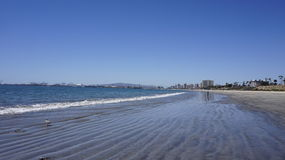 Littoral dans Long Beach Photographie stock