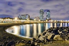 Littoral de Barcelone, Espagne Photographie stock libre de droits