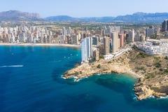 Littoral de Benidorm Alicante, Espagne Photographie stock libre de droits