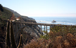 Littoral de Big Sur Images libres de droits
