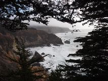 Littoral de Big Sur Images libres de droits