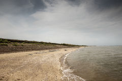 Littoral de Bradwell-sur-mer Photos stock
