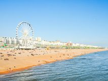 Littoral de Brighton au printemps photos stock