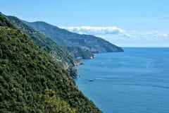 Littoral de Cinque Terre Photo libre de droits