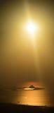 Littoral de Dubaï au coucher du soleil Photographie stock
