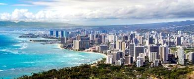 Littoral de Honolulu image stock
