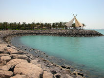 Littoral de Kuwait City Photos libres de droits