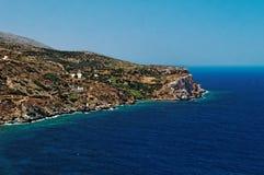 Littoral de l'île grecque Photos libres de droits