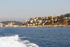 Littoral de la Côte d'Azur Image stock