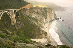 Littoral de la Californie Photos libres de droits
