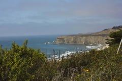 Littoral de la Californie de route de Côte Pacifique Photo stock