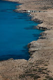 Littoral de la Chypre. Photographie stock