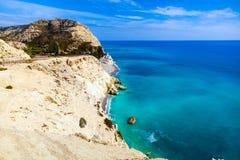 Littoral de la Chypre photo stock