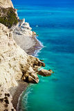 Littoral de la Chypre image libre de droits