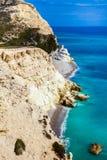 Littoral de la Chypre photo libre de droits