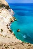 Littoral de la Chypre photos libres de droits