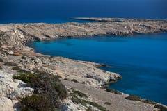 Littoral de la Chypre. Cap Greco. Photos libres de droits