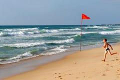 Littoral de la mer Méditerranée de l'Israël image stock