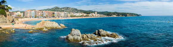 Littoral de Lloret de Mar Photo stock