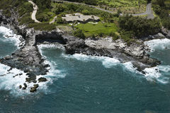 Littoral de Maui. Image stock