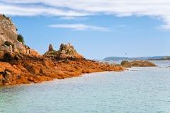 Littoral de mer dans Brittany Photo stock