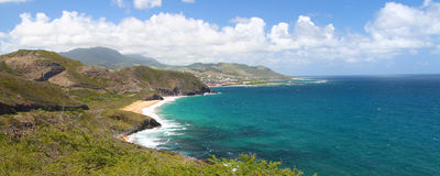Littoral de saint Kitts Photographie stock libre de droits