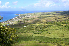 Littoral de saint Kitts Images stock