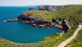 Littoral de Tintagel Photographie stock