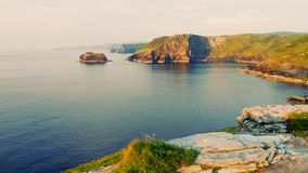 Littoral de Tintagel image stock
