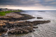 Littoral de village de Craster photos libres de droits