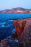 Littoral des îles de Cyclades Photos libres de droits