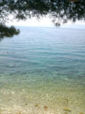 Littoral du ` s de la Croatie beau de falaise Photo stock