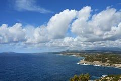 Littoral en Costa Navarino, Grèce photographie stock libre de droits