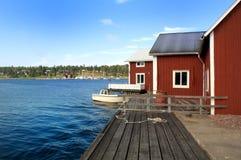 Littoral en Suède Images libres de droits